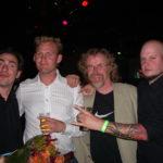 Groepsfotootje tijdens Exposure 2006 met regisseur Johan Nijhuis