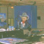 Het schilderen van het desbetreffende schilderij
