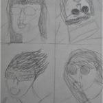 Studieblad portret met bril