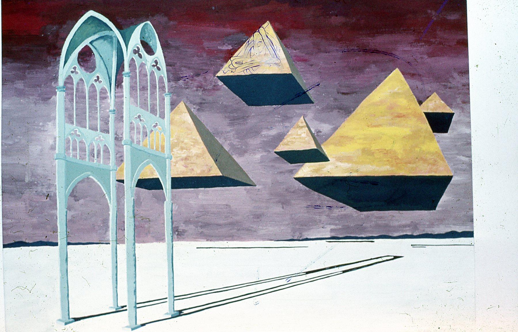 Surrealistisch schilderij Henk