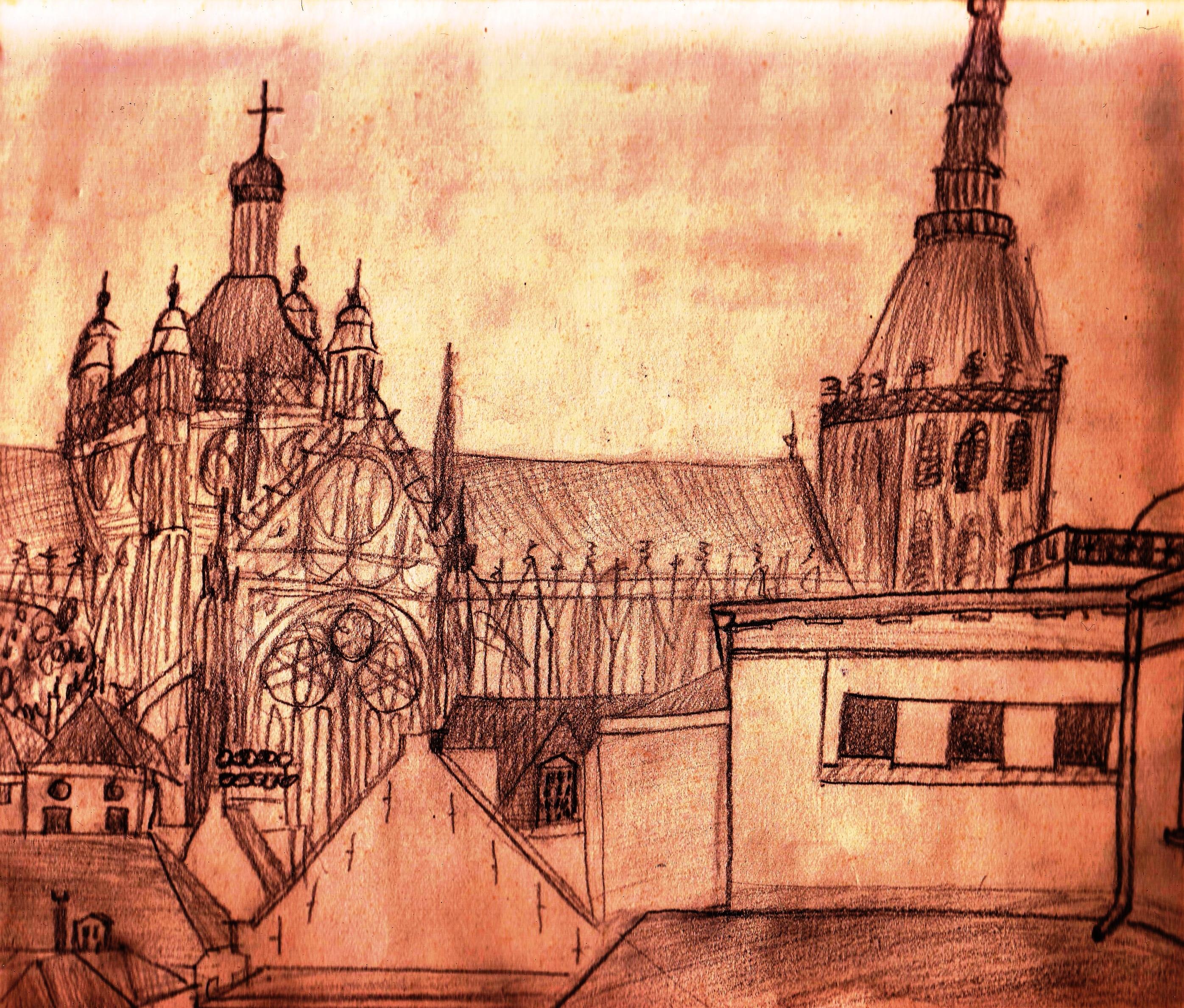 Uitzicht tekenlokaal Christoph Noordzij