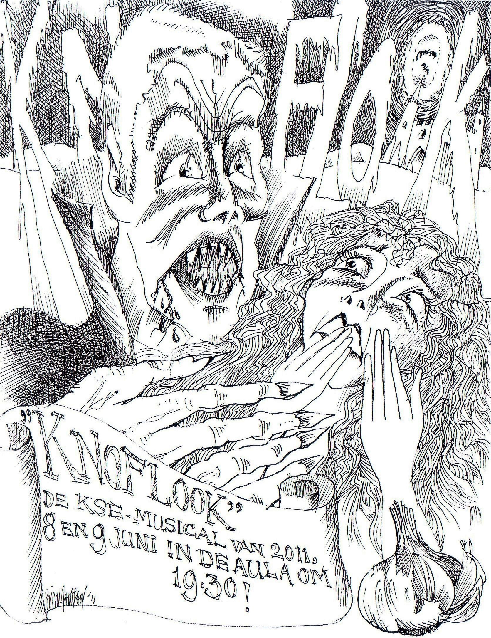 Affiche voor Knoflook