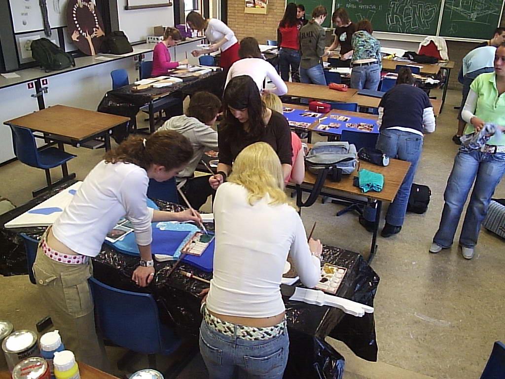 Overzicht van de activiteit in de klas