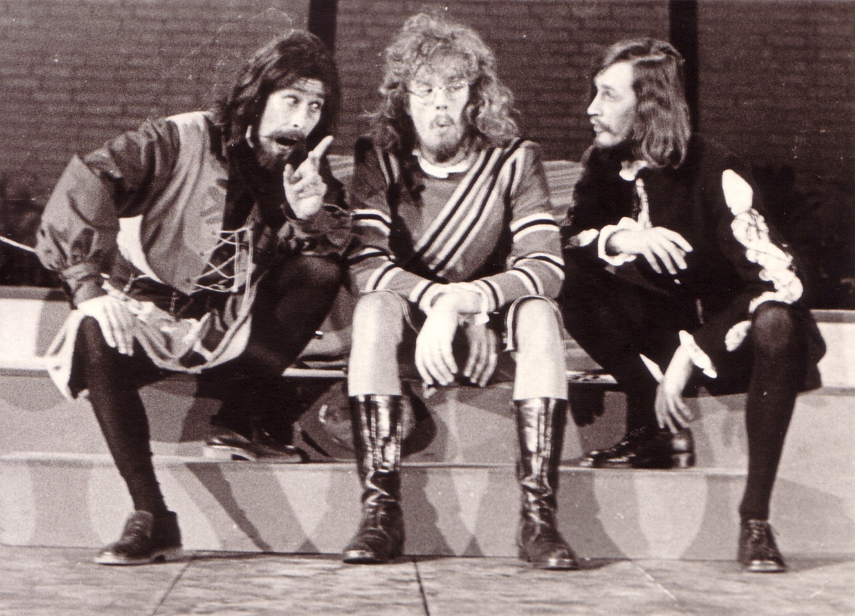Scène met jonker Tobias, jonker Andries en Fabio