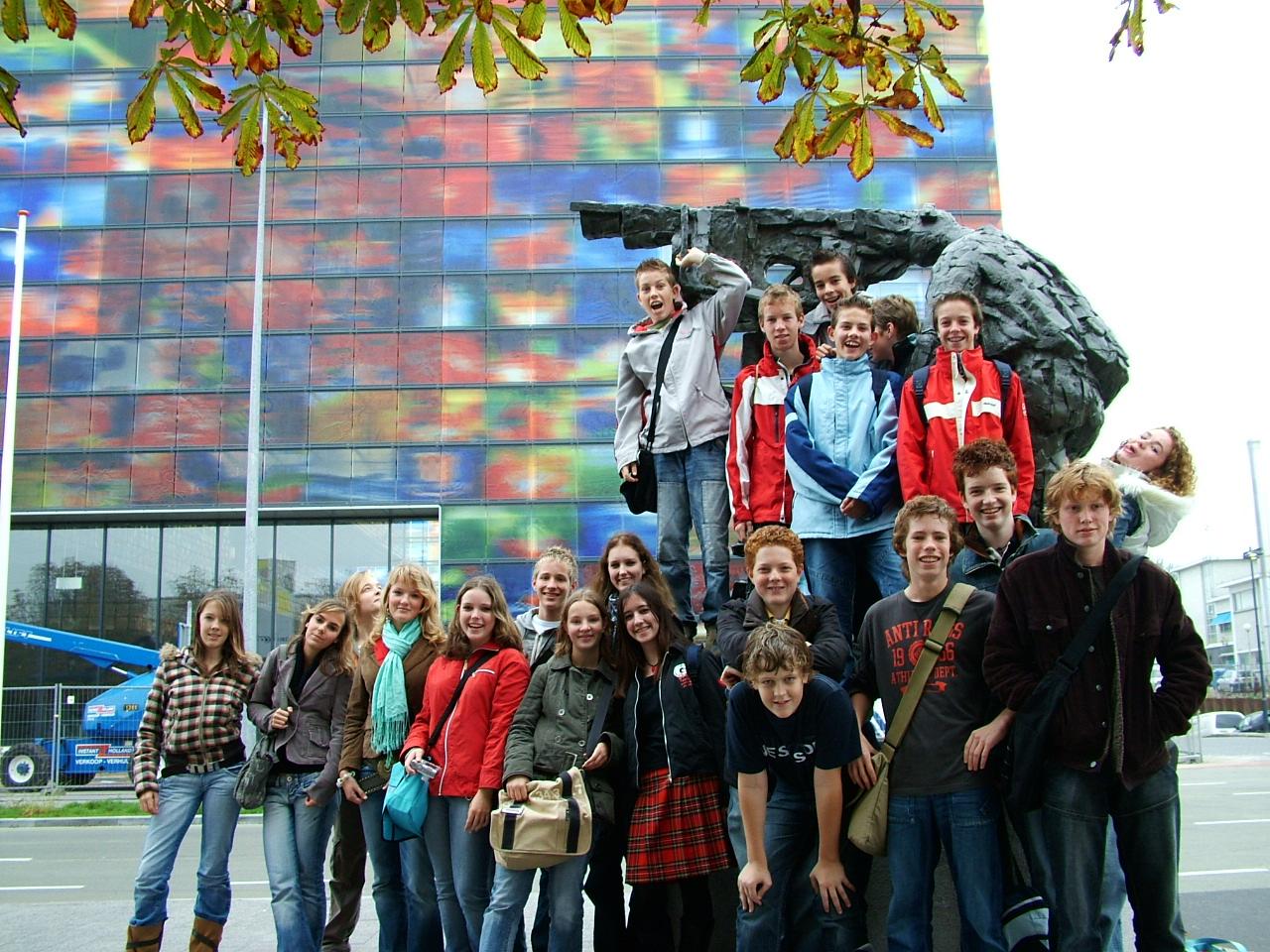 21 Met de hele groep op de foto