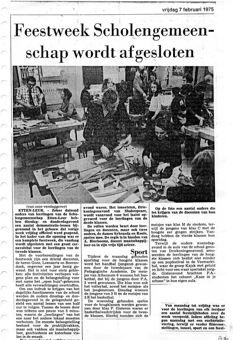 Artikel uit het Brabants Nieuwsblad