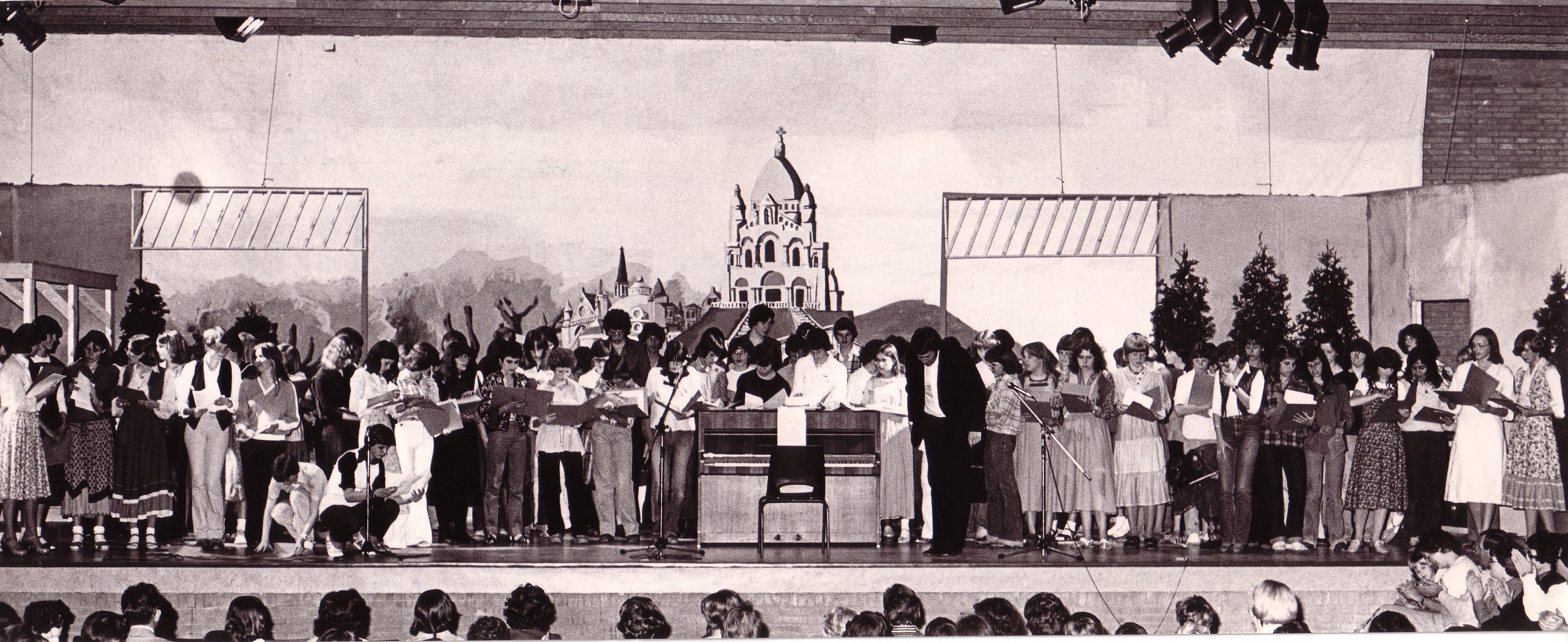 Schoolkoor The Happy Voices in 1978