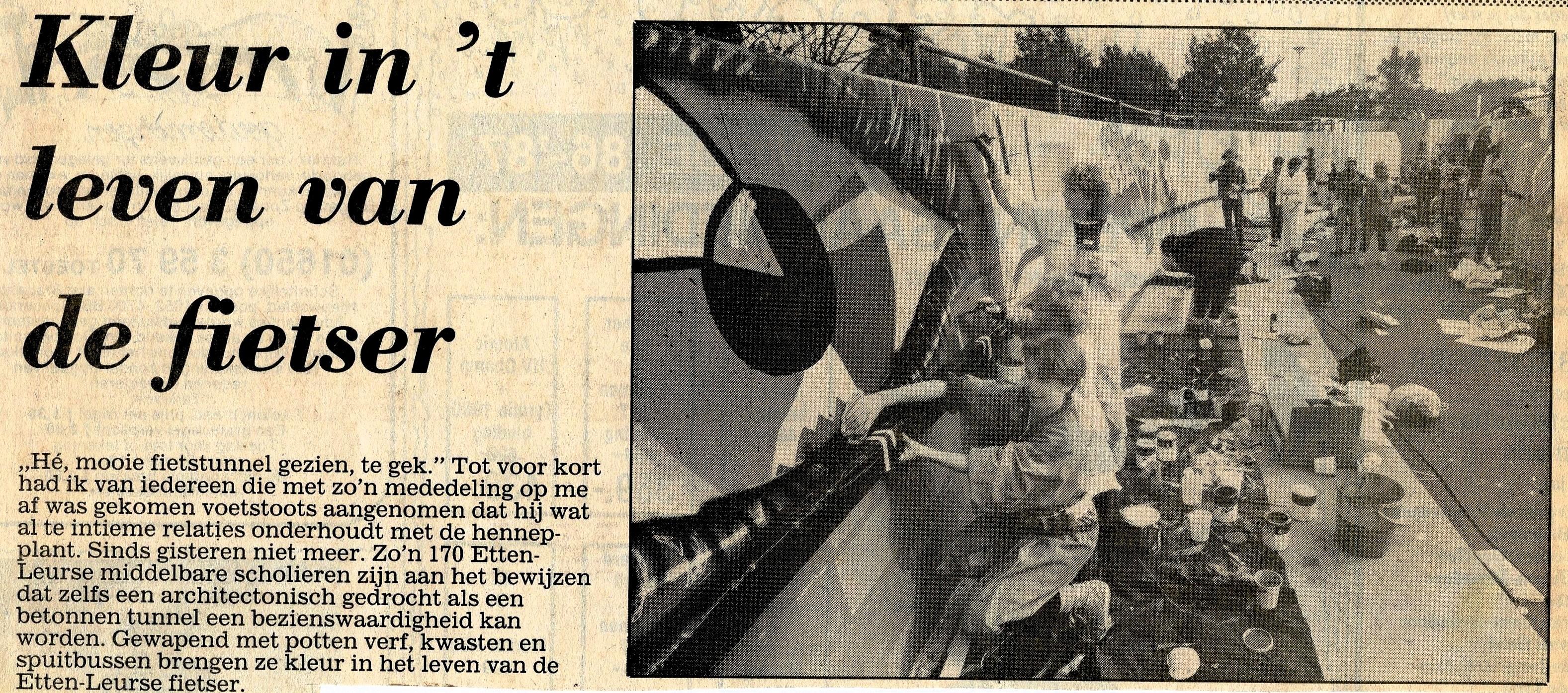 Bericht in het Brabants Nieuwsblad van 10 okt.1986
