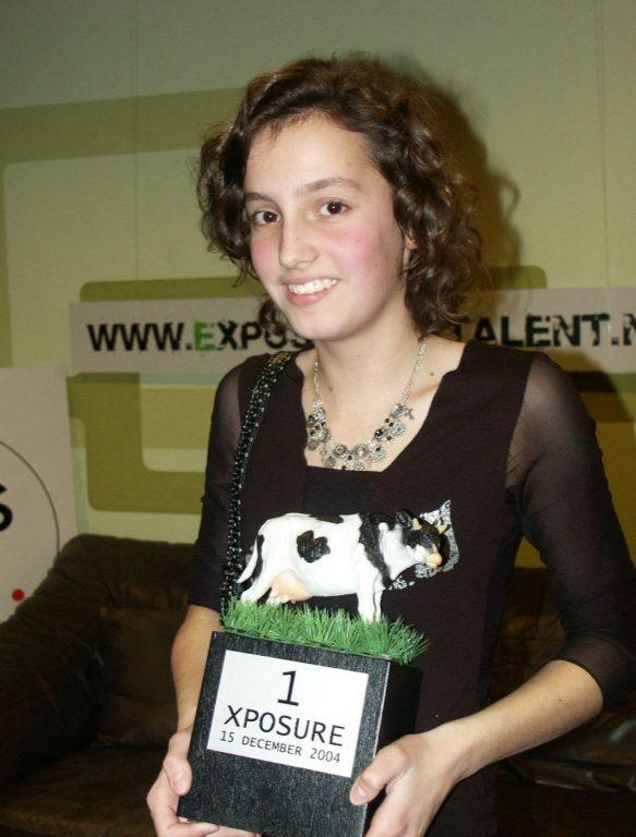 Celine met de trofee