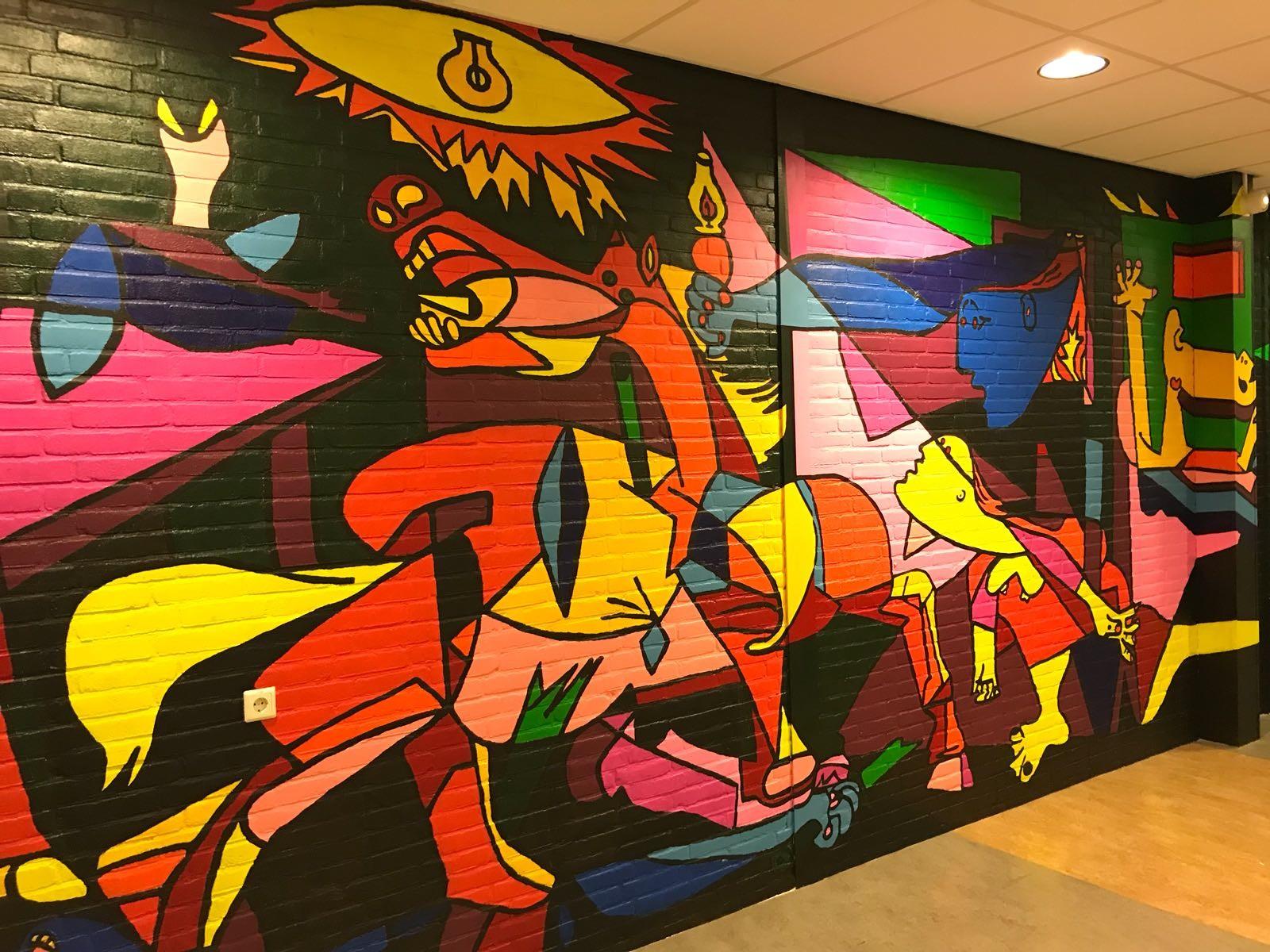 Fragment van de voltooide KSE-Guernica