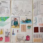 opdracht 'collectie' schetsen - VWO 1988-1989