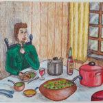opdracht 'collectie' tekening 2 - VWO 1988-1989
