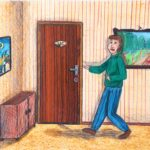 opdracht 'collectie' tekening 3 - VWO 1988-1989