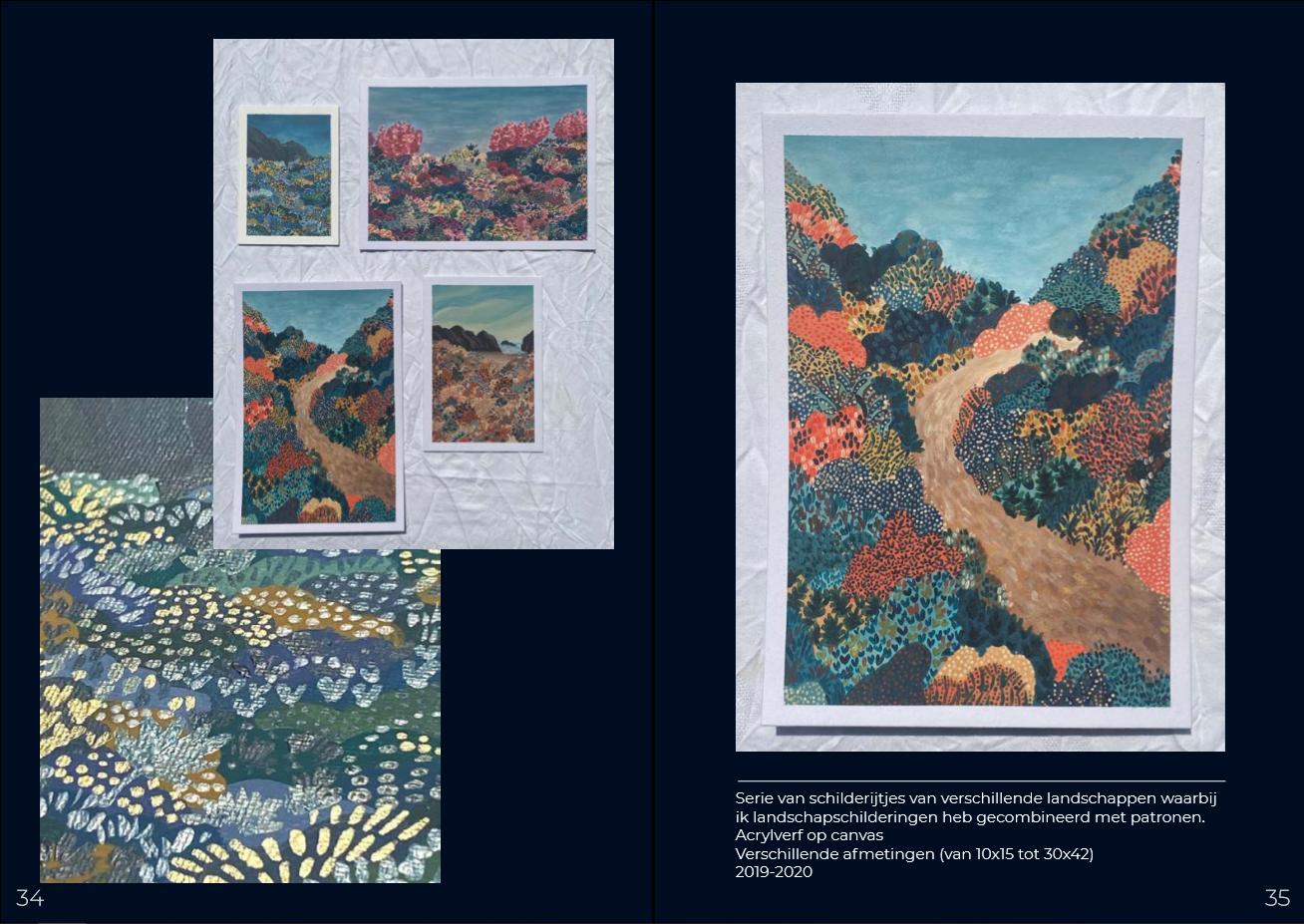Serie landschappen