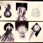 Tekeningen van Dagmar Aarts uit Vwo6 voor de eerste 10 dagen
