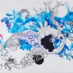 Amygdala, 2019, Pen, gouache, watercolour, on paper, 80 x 110 cm