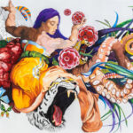 Extraordinary machine, 2014 - 2015, Gouache, watercolour, pencil and ink on paper, 180 x 400 cm