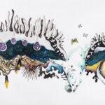 Lacuna, 2019, Pen, gouache, watercolour, pencil on paper, 79 x 111 cm