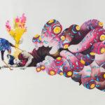 Loulou gone, 2019, Gouache, watercolour, ink on paper, 81 x 117 cm