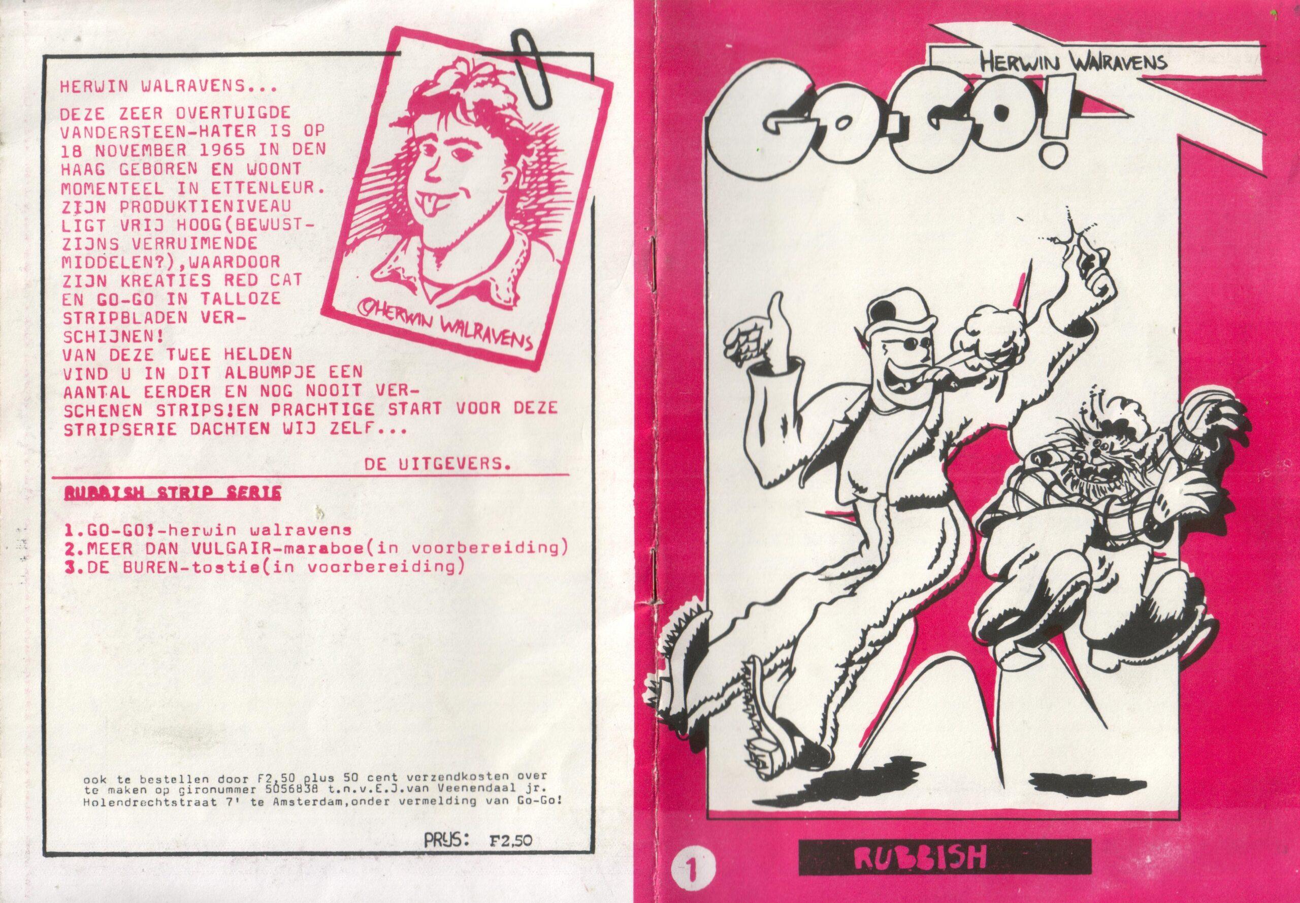 Stripboekje, omslag