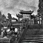9. Jiming Temple Nanjing (sketch 21-09-2020 visit 03-11-2019) A4 HB