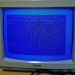 C64 2020 monitor met startscherm