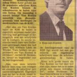 Aankondiging in Dagblad De Stem