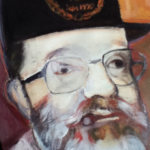 Schilderij van een van de bewoners: Bert Slijk