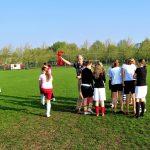 Start van het damesvoetbal