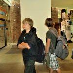 Aankomst in de museumhal