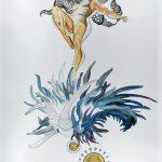 Holobiont, Gouache, watercolour, ink on paper, 110 x 79 cm